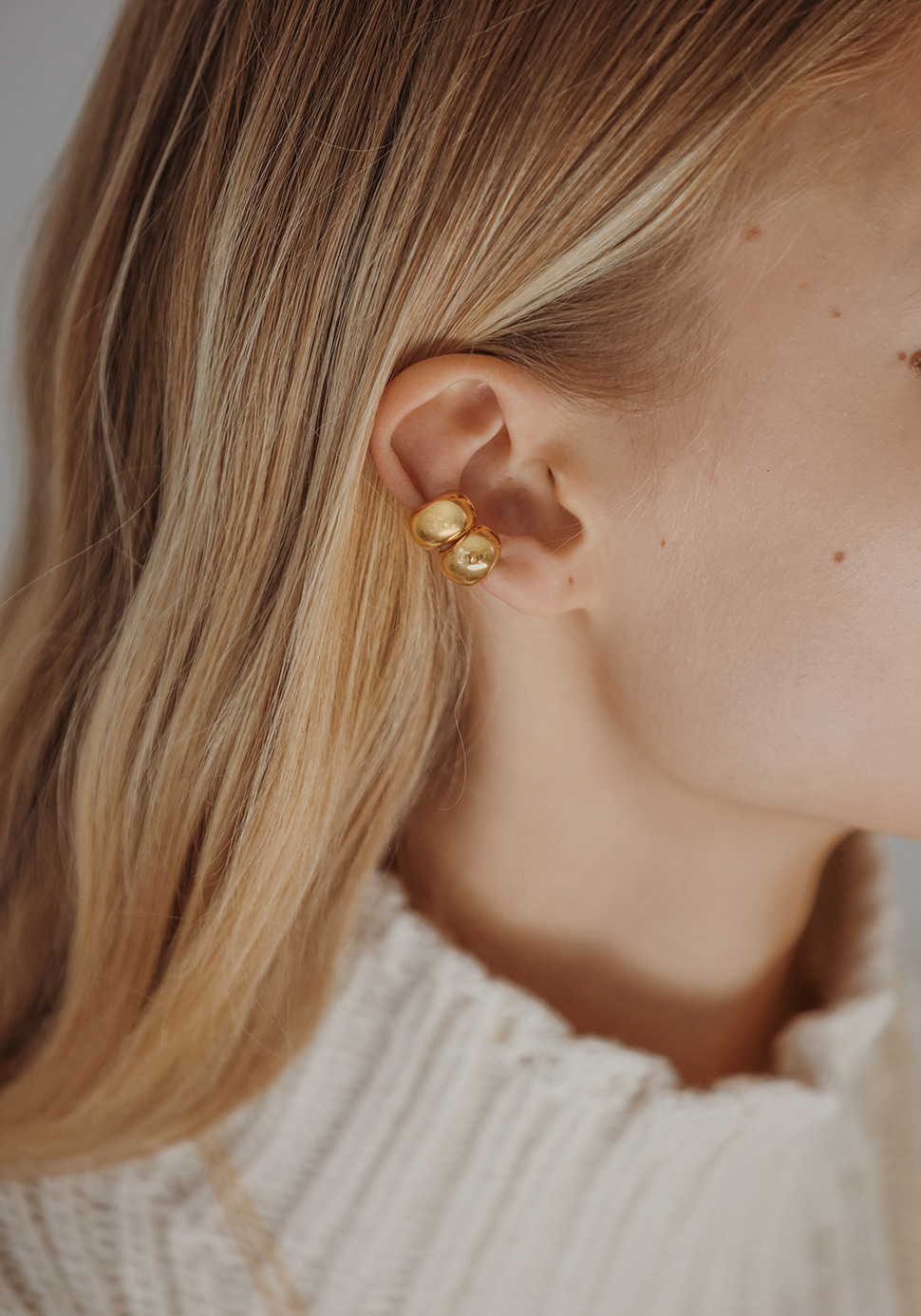 Puffy Ear Cuff (gold)