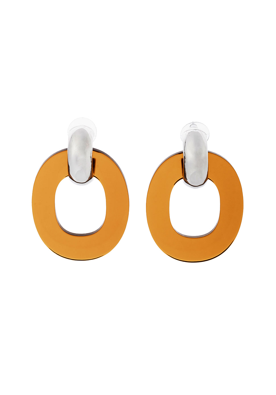 Ellipse Earring (brown)