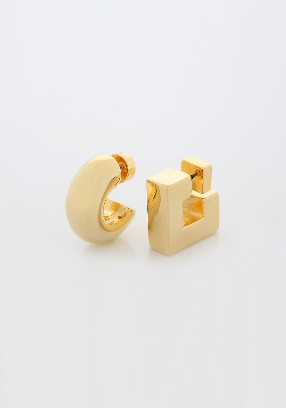 Puffy Pipe Earring (gold)